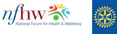 NFH&W logo and Rotary Club logo