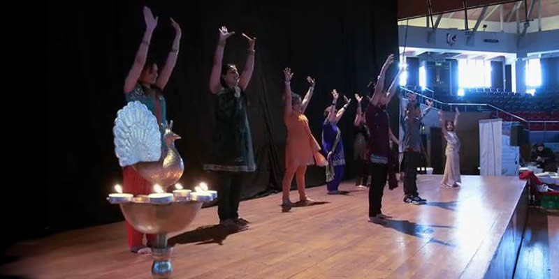 Indian dancing display