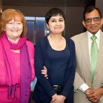 Prof. Gupta (right) with honoured guests
