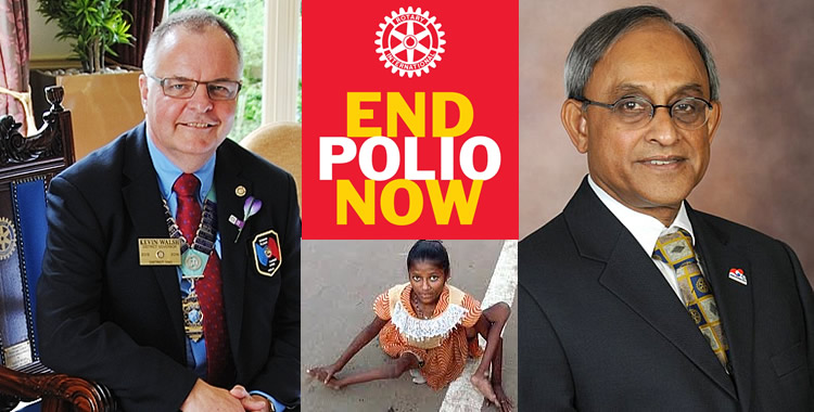 Kevin Walsh and Vas Vasudev supporting End Polio Now
