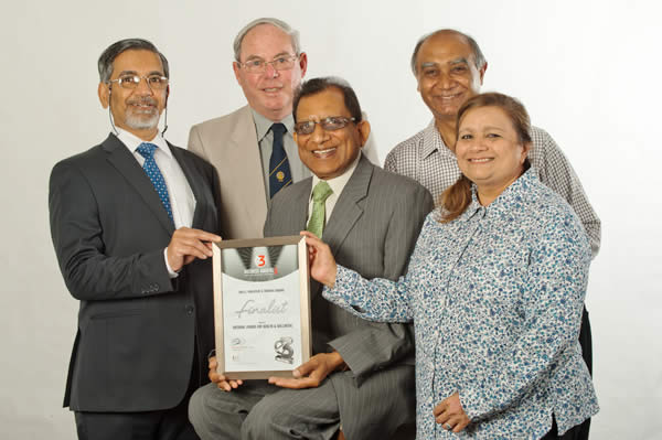 Prof. Gupta and other committee members, with the E£ Awards finalist certificate.