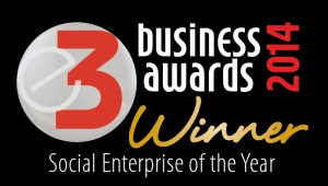 Winner of the E3 Social Enterprise of the Year Award 2014.