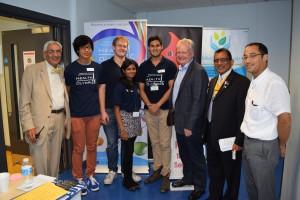Health Olympics Team with MP Mr Ollerenshaw, Pro Gupta, Prof Rajbhandari & Rtn Gandhi