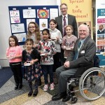 Prize winners with Professor Campbell and Rtn Peter James Robinson MBE