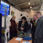 Chief Guest & Mayor with Prof Cambell visiting a display