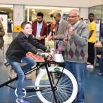 Everyone enjoyed  smoothie bike