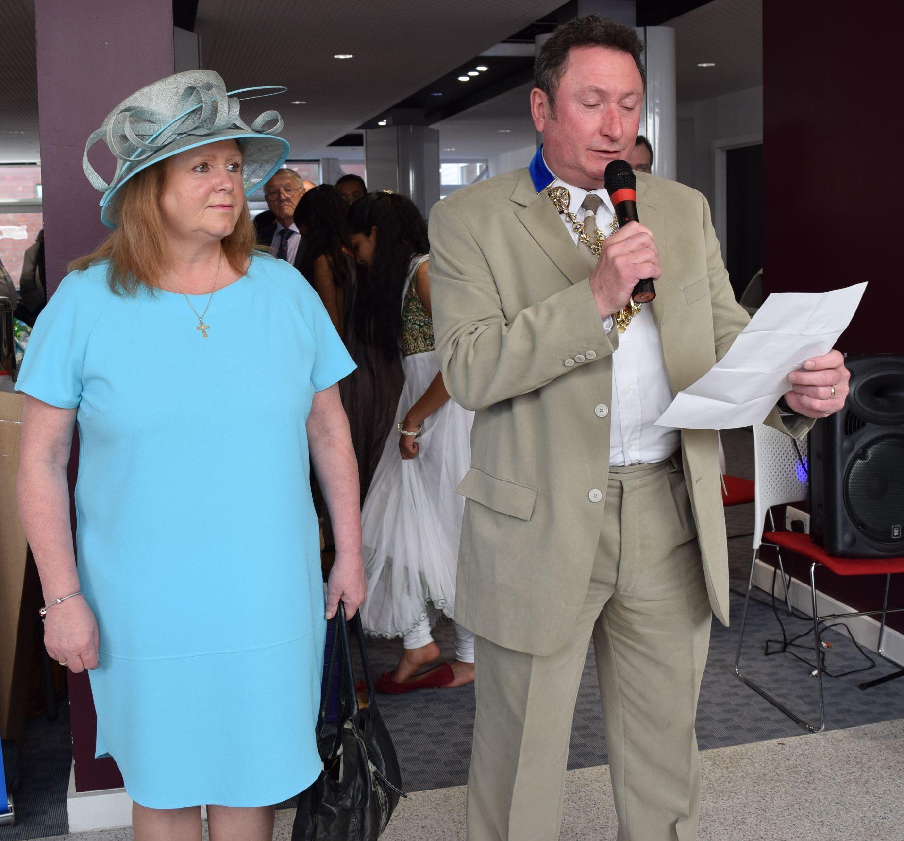 Mr Nick Pomfret, Mayor of Preston opens the Health Mela