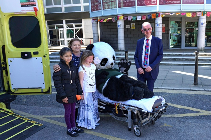 'Pandamedic' with Chief Guest, Sarifa Kabir and two young visitors