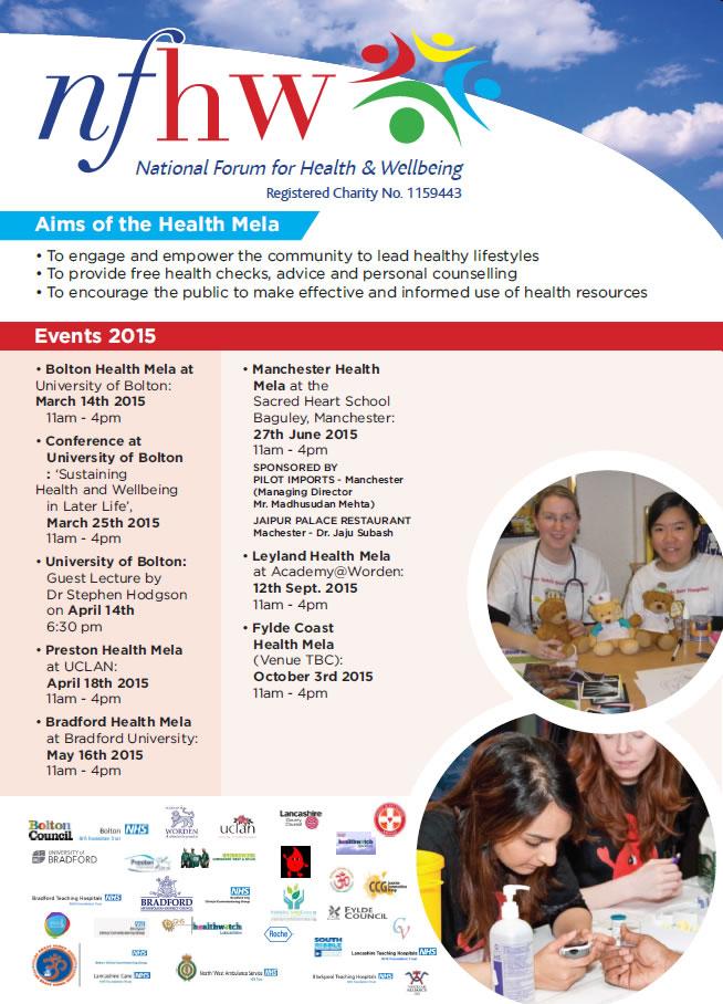 Page 2 of Manchester Health Mela leaflet