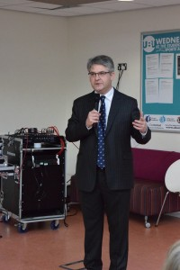 MP Mr Davies at the event