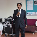 Professor Mohanty welcoming the guests