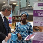 MP Mr Davies visits one of the stalls