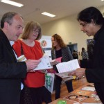 MP Mr Kane visiting a stall