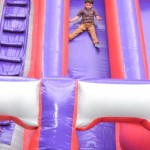 children enjoyed the giant slide