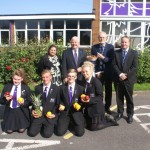 Sarifa Kabir, Chris Catherall - Head , Mark Reed, Mr. Russell Hogarth with Sam Bradshaw, Aaron Moore, Megan Bradshaw, Lucy Brown and plenty of fruits