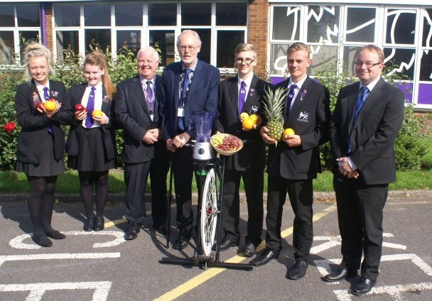 Mr. Russell Hogarth, Chris Catherall - Head  and Mark Reed - Director of Business and Finance with Sam Bradshaw, Aaron Moore, Megan Bradshaw, Lucy Brown, plenty of fruits and the smoothie bike