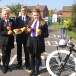 Sam Bradshaw - Head Boy, Aaron Moore - Deputy Head Boy, Megan Bradshaw - Head Girl & Lucy Brown - Deputy Head Girl with fruit contributions by students and the smoothie bike