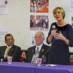 Professor Caroline MacEwen addressing Breakfast     Meeting