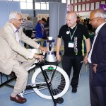 Co-chair of Mela Steering Group, Mr Ramesh Gandhi obe -   riding Smoothie Bike