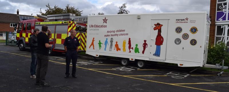 Lancashire Fire & Rescue Education team also joins