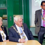 Professor Romesh Gupta OBE with Cllr and Mrs Peter Hardy   Mayor and Mayoress  of Fylde at Breakfast Meeting