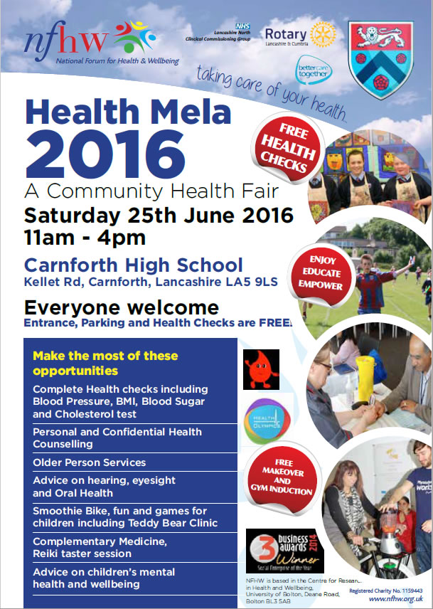 2016 Carnforth Health Fair poster