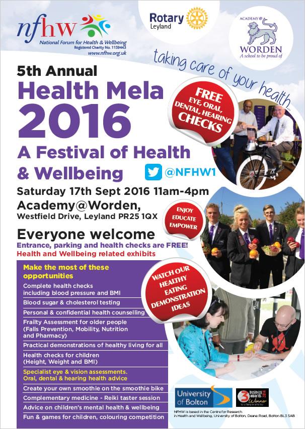 Leyland Health Mela poster