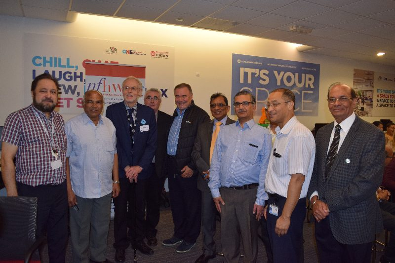 David Taylor CBE, Chair, Board of Governors, UCLan with NFHW members