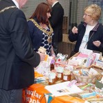 Mayor and Consort with stallholder