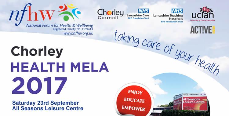 Chorley Health Mela 2017 poster