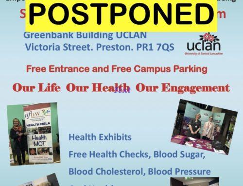 19th Preston Health Mela Postponed