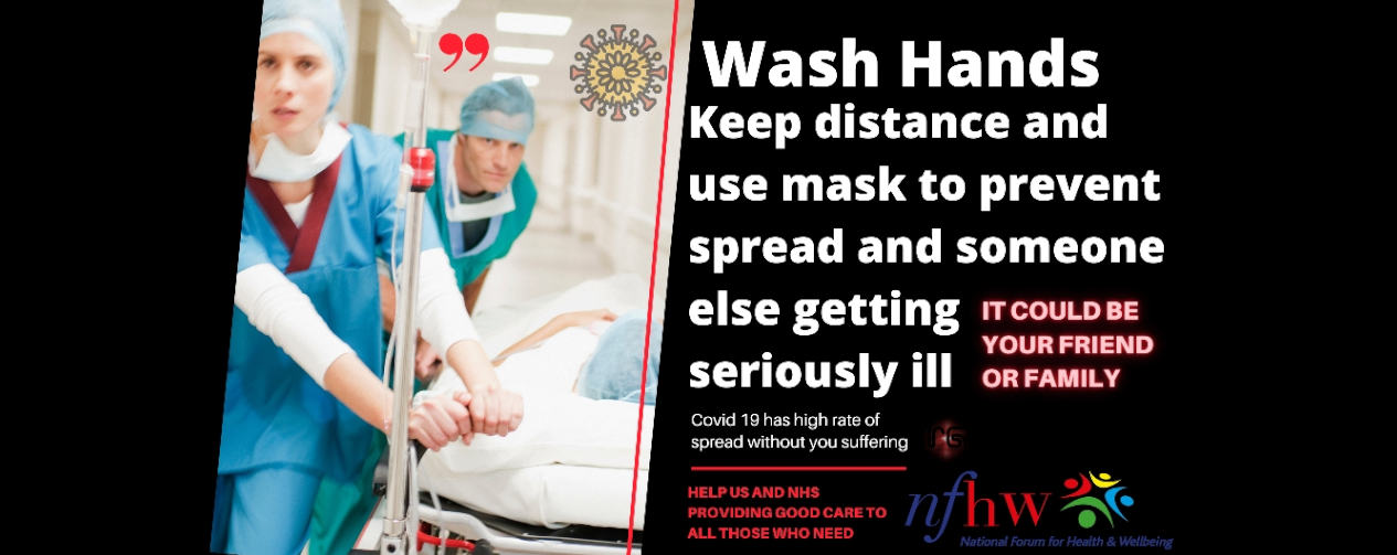 Wash hands, use a mask, keep your distance