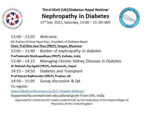 HexN organises Nephropathy in Diabetes webinar